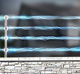 Cerca elétrica com perímetros independentes